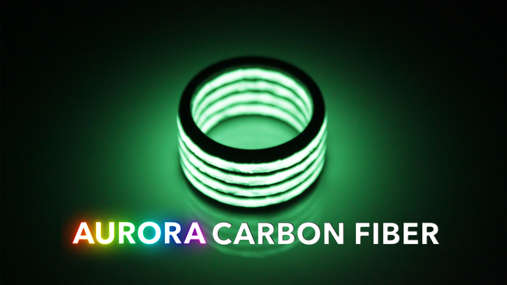 AURORA CARBON FIBER. LUME INFUSED CARBON FIBER.