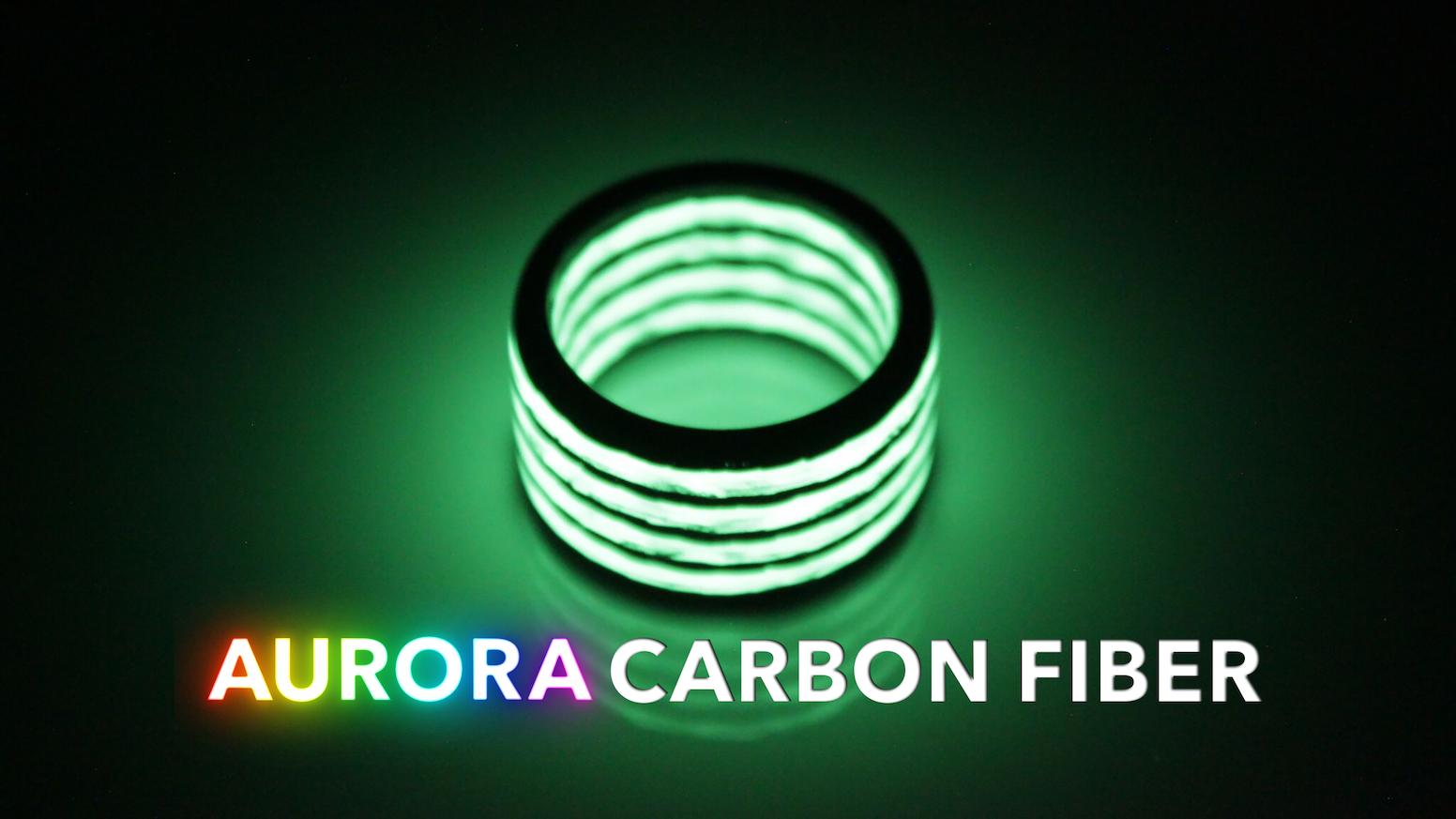 The Brightest Aurora Carbon Fiber Design Yet. Lume Infused Carbon Fiber.
