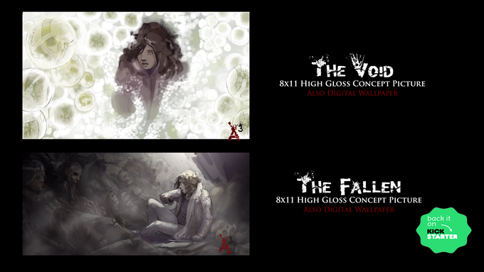 Exclusive Kickstarter (The Void & The Fallen) Digital Wallpaper and 8x11 High Gloss Pictures