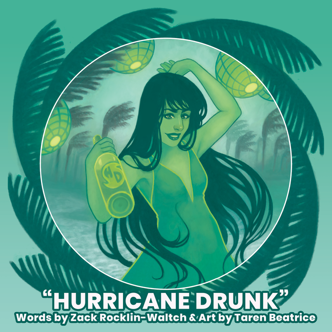 """Hurricane Drunk"", cover art by Rachel Perciphone"