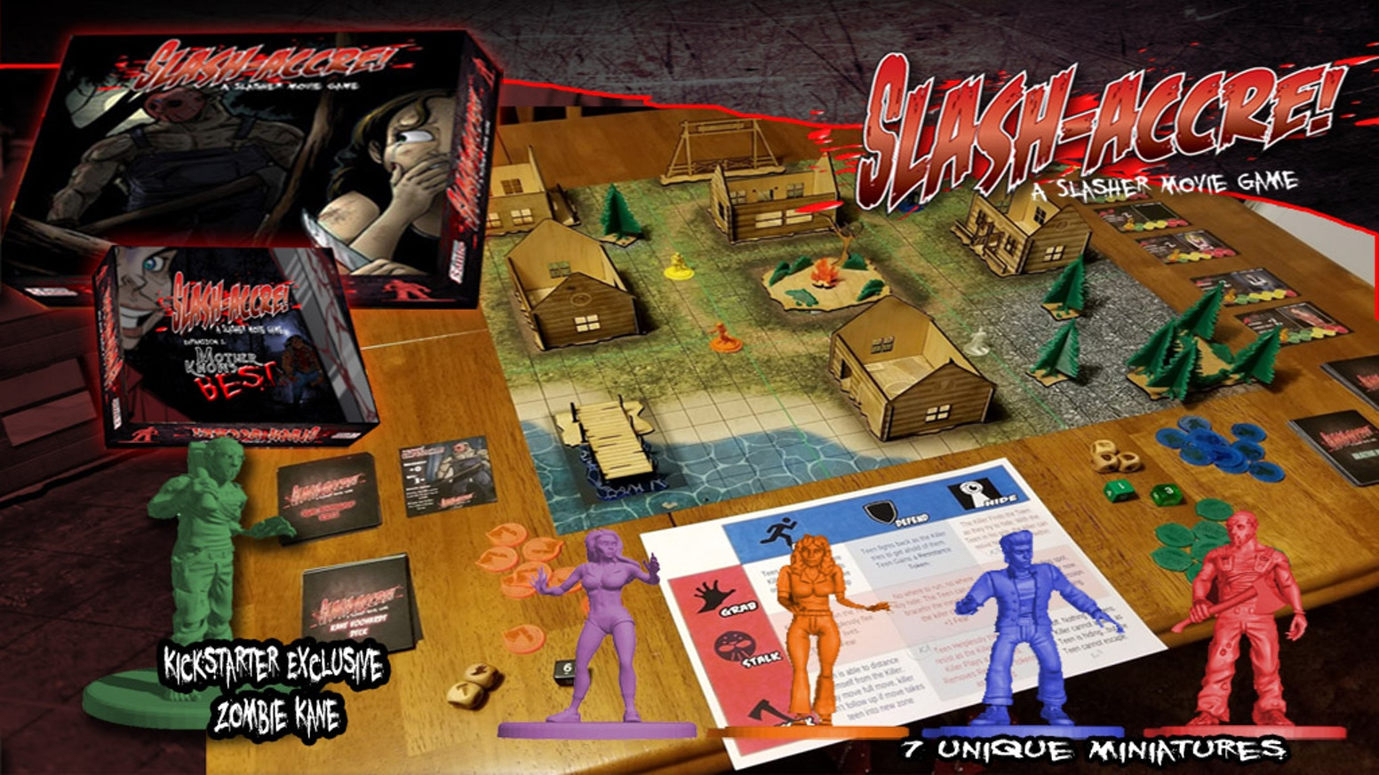 A Horror-Themed Miniature/Board Game Based on 1980's SLASHER Films