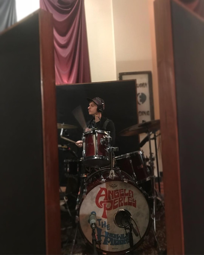 Jake Levy laying it down!! Tracking drums for the record at Earthwork Recording Studio in Newark, OH