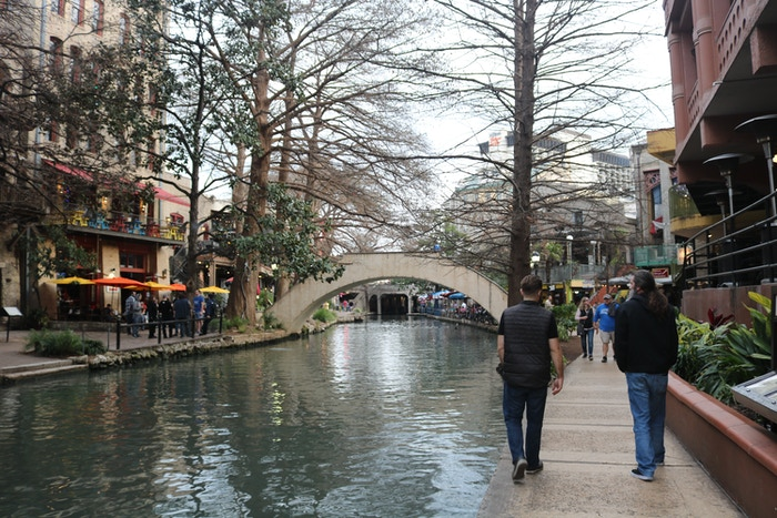 The River Walk is really beautiful and I was so close to pushing Craig in!