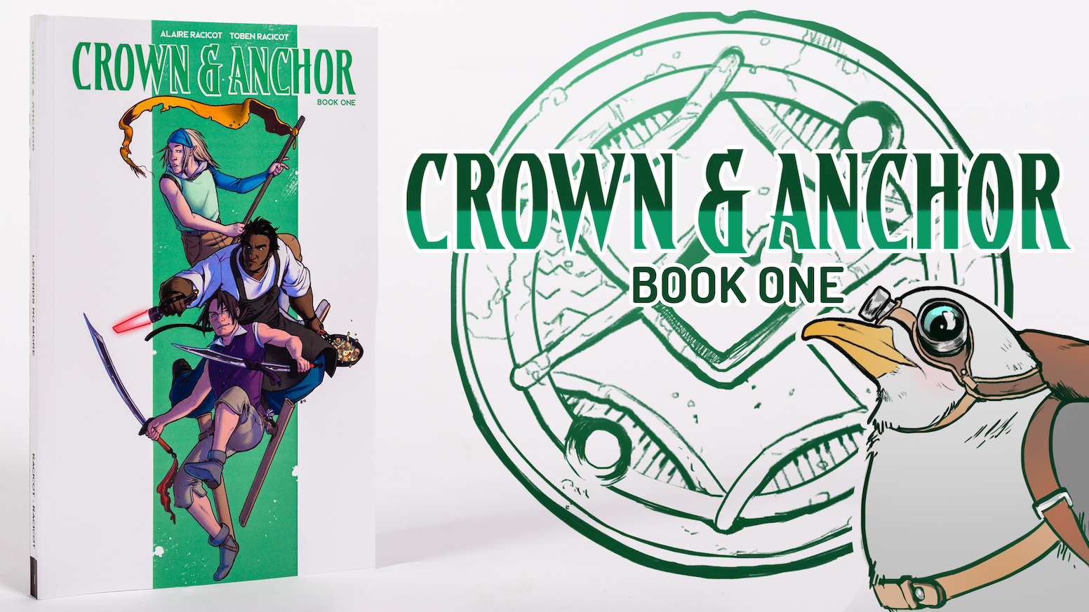 A North American manga containing the first five issues of Crown & Anchor - a swashbuckling sci-fantasy adventure comic!