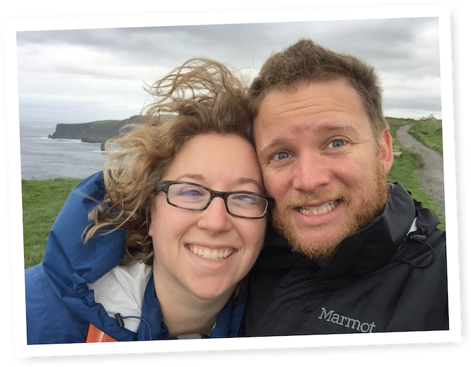Loretta and Jeremy on our Honeymoon in Ireland