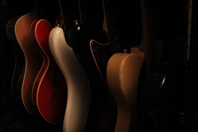 Go-to guitars for the record