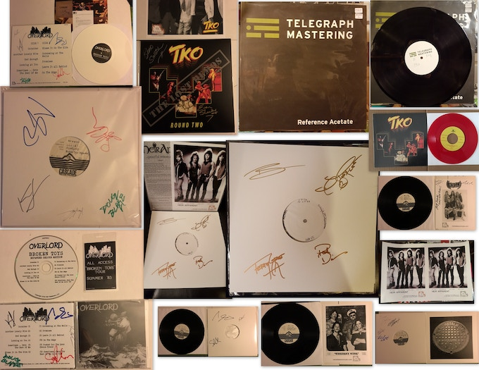 Test Pressings, Signed LPs and CDs, TKO Acetate, etc.