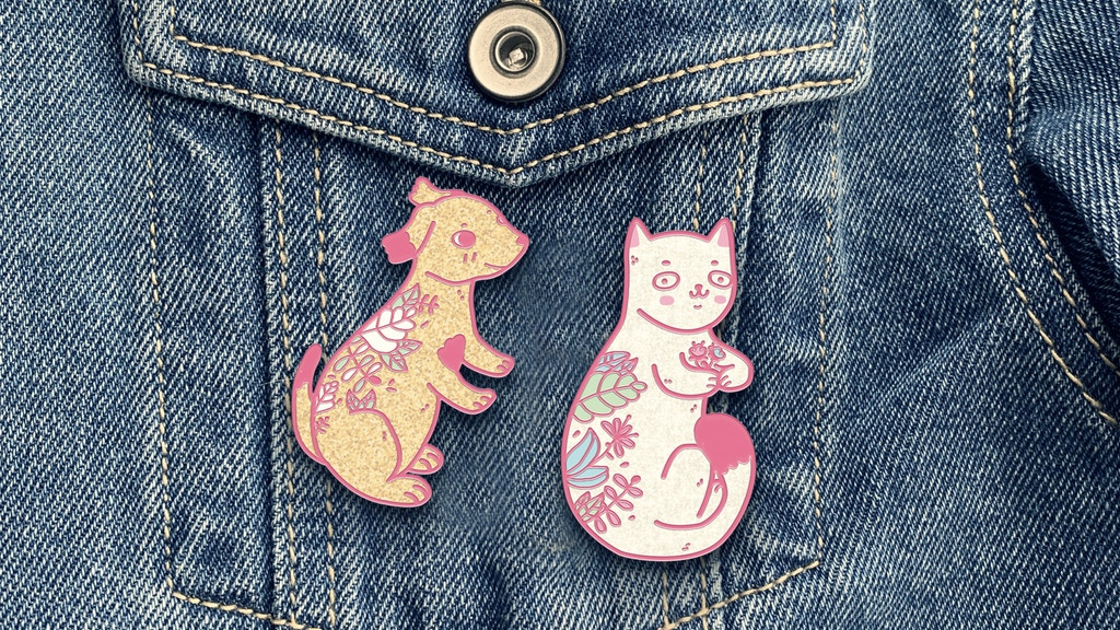 Project image for Lovely Pets Hard Enamel Pins Project - Make 100