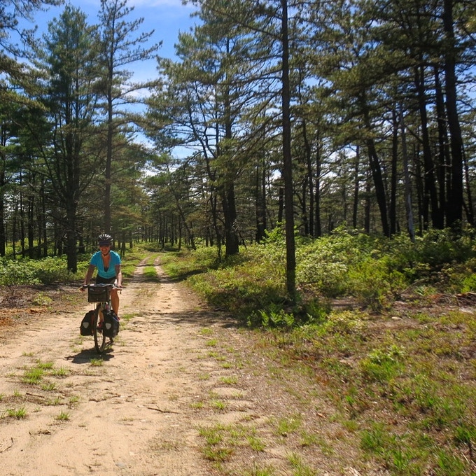 Me on a self-supported bike packing trip down on the Cape. Look at how happy I am!  This could be you...