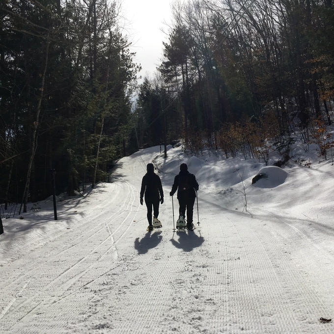 Snow doesn't scare us!  Adventure can happen any season - snow shoe outings will be on the list at Landsmith!