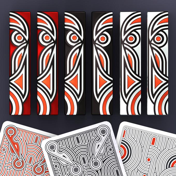Hello Tiki decks: Red, Black, White