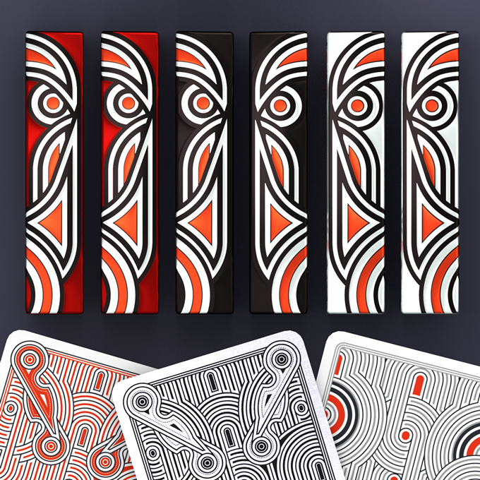 Hello Tiki decks: Red, Black, White