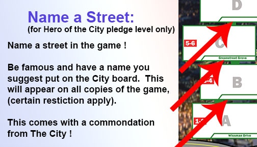 Name a Street perk