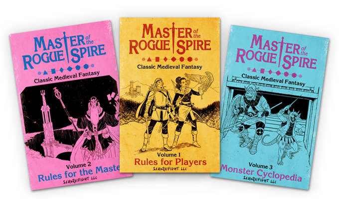 Mock-up of the 3 volume set - design may vary in the final product.