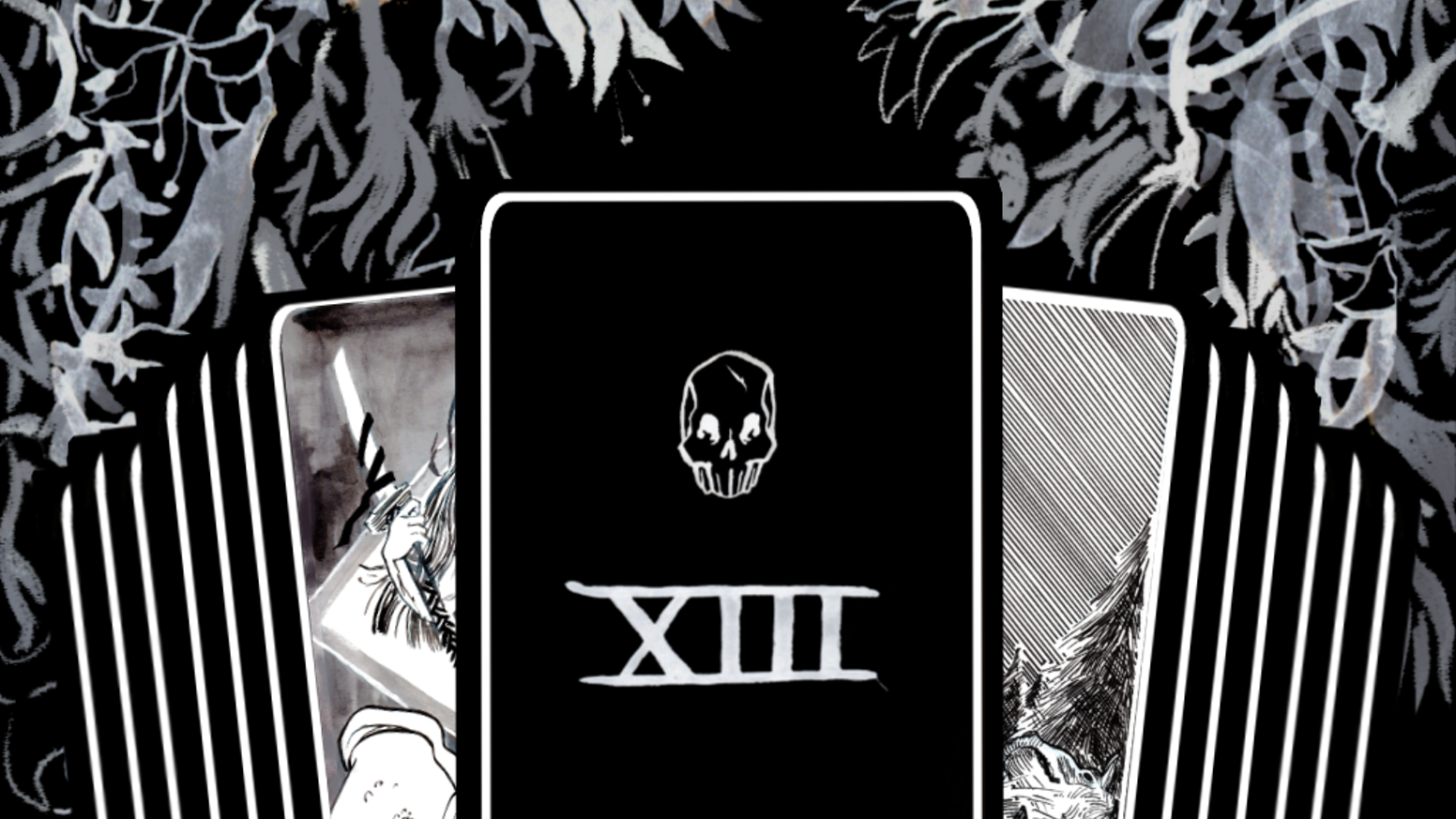 A deck of hand-painted tarot cards themed around psychopomps, grim angels, and the many deaths of myth and legend.
