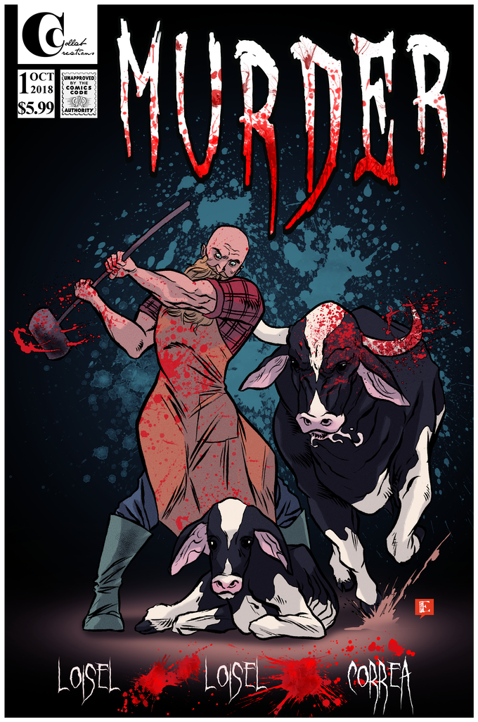Cover art for Murder issue 1. Art by Emiliano Correa. Read 2nd edition debuting April through KickStarter