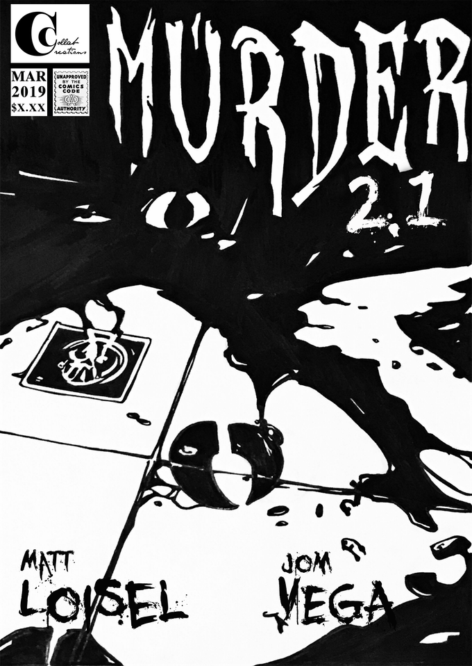 Cover art for Murder issue 2.1. Art by Jom Vega