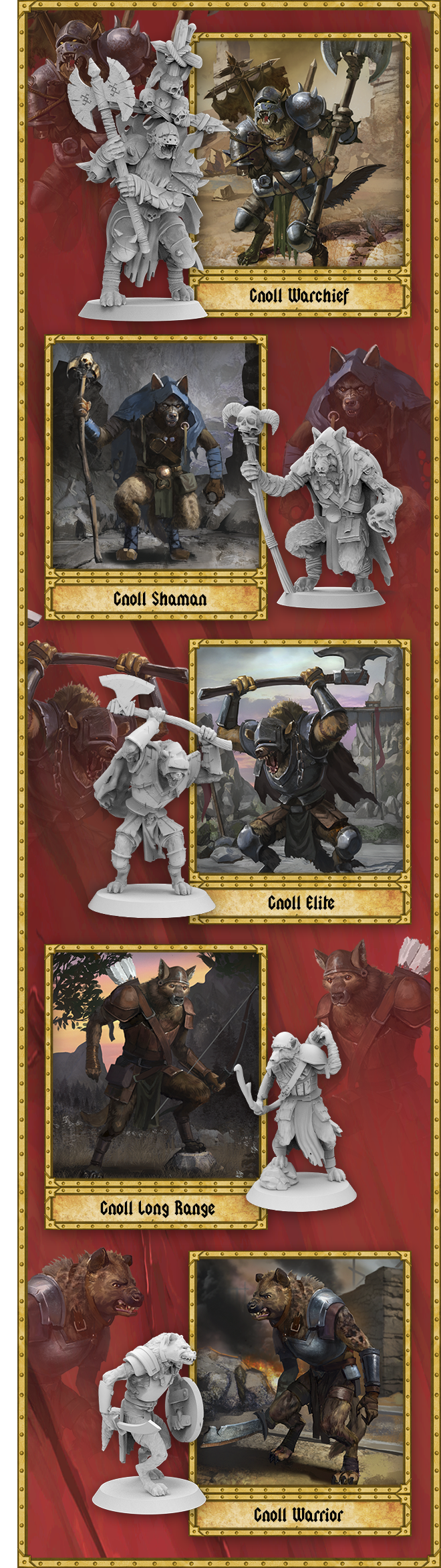 Fierce gnolls will be your enemies in this adventure