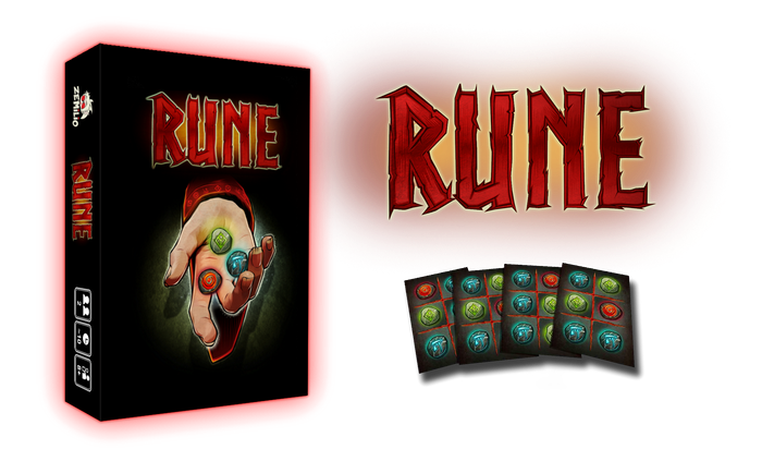 Summon Zemilio from another world! Rune is a fast-paced card game with card placement and area control mechanics.