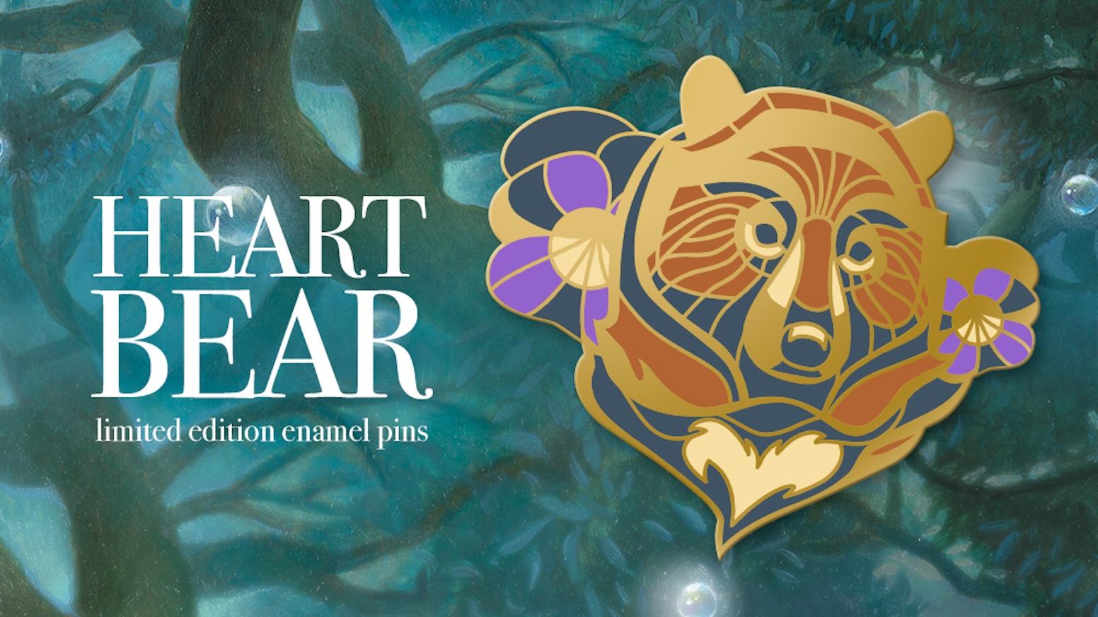 Heart Bear is a limited edition hard enamel pins based on my bear drawings.