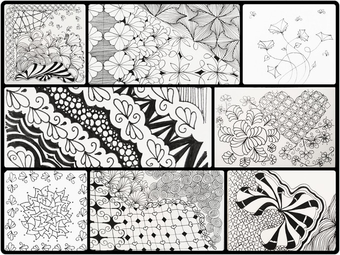 Zentangle doodles by me