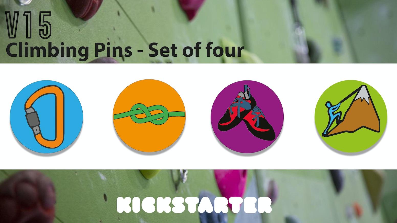 Climbing themed pins!