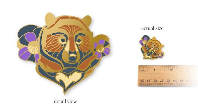 Limited Edition Heart Bear Hard Enamel Pin