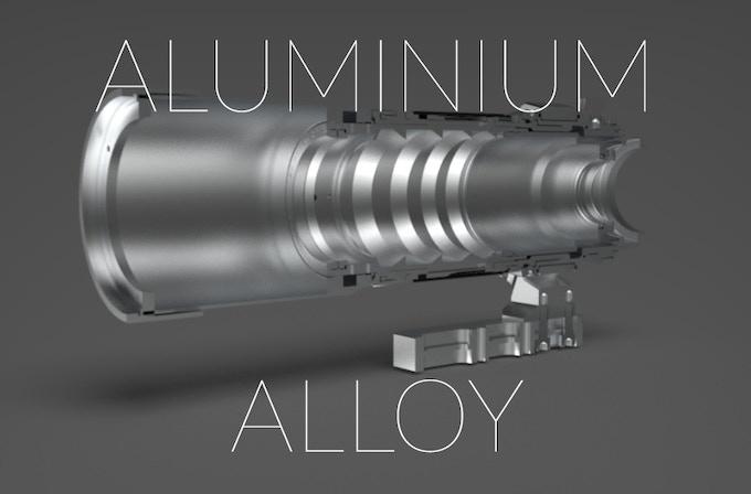 All metal construction, 0 Plastic Part