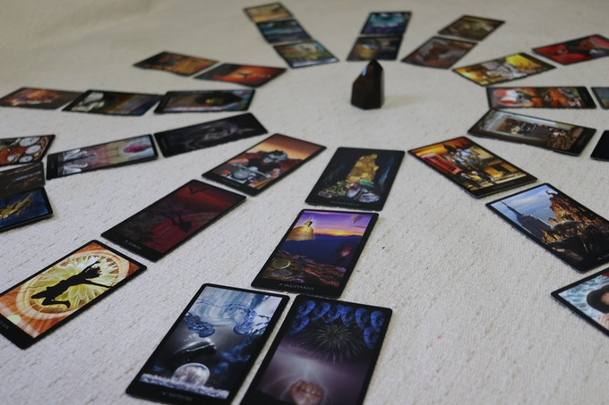 The Deck Laid Out as a Natal Astrology Chart