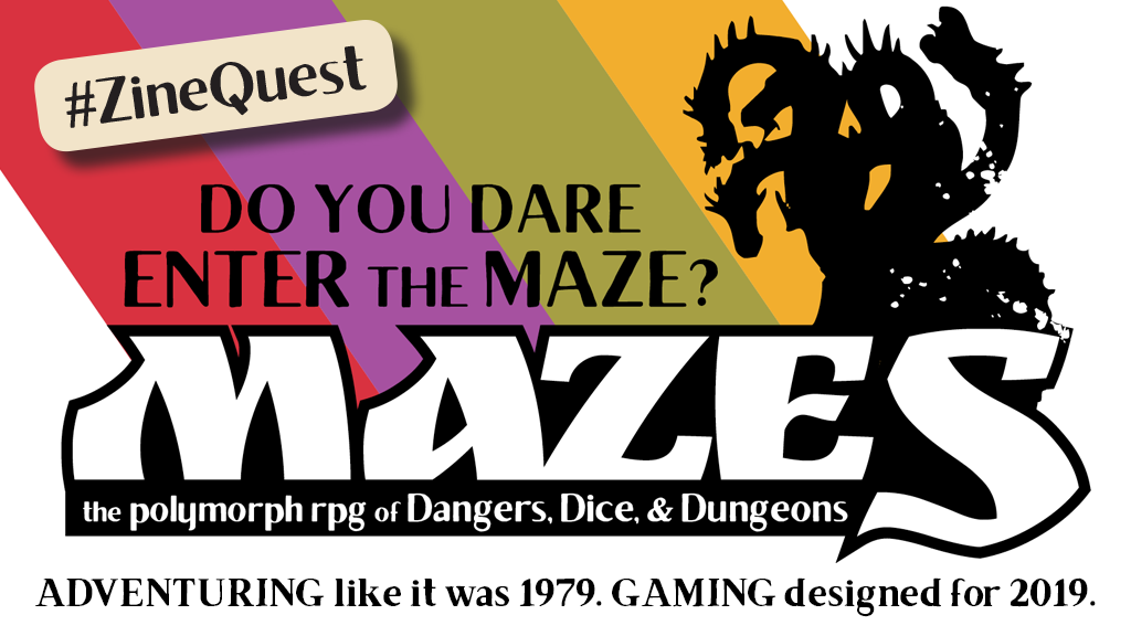 MAZES The RPG of Dice, Danger, and Dungeons #ZineQuest project video thumbnail