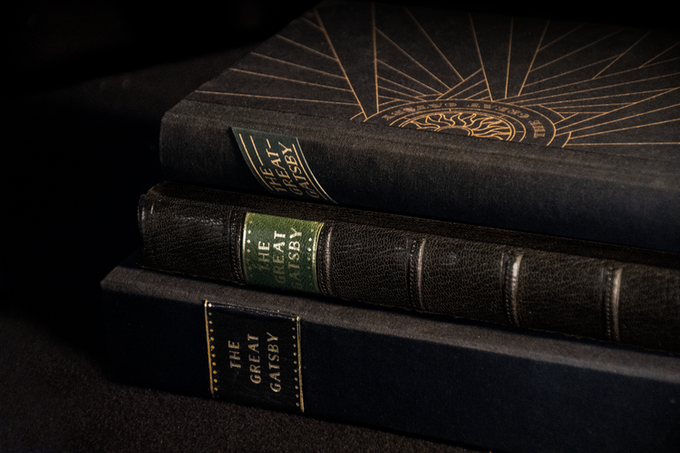 We are offering THE GREAT GATSBY in several remarkable bindings . . .