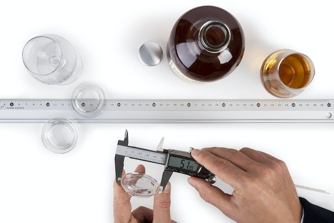The outer diameter of the Glass Lid is 52mm (or 2.0 inches).