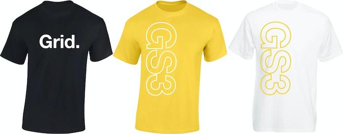 Grid. Tee / GS3 Yellow Tee / GS3 White Tee