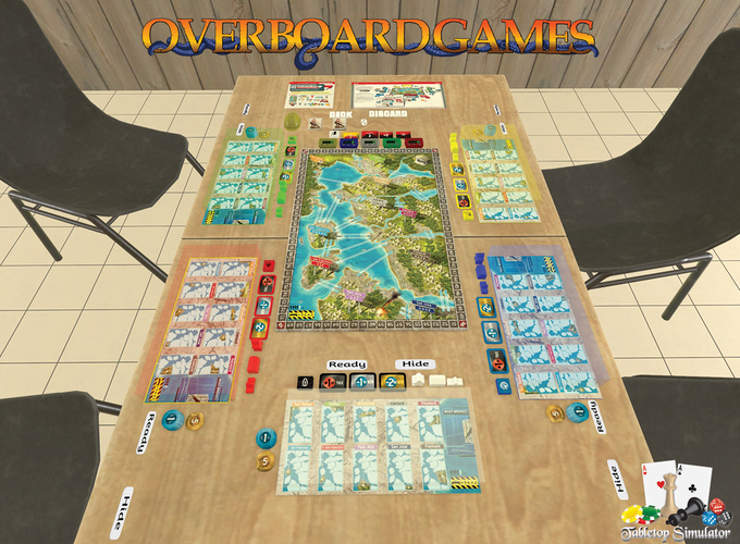 Play now on Tabletop Simulator thanks to Overboard Games!