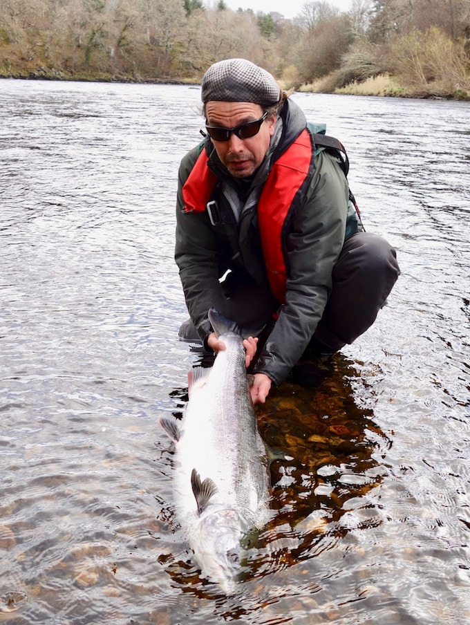 Jonas Runnberg on the River Spey, Scotland