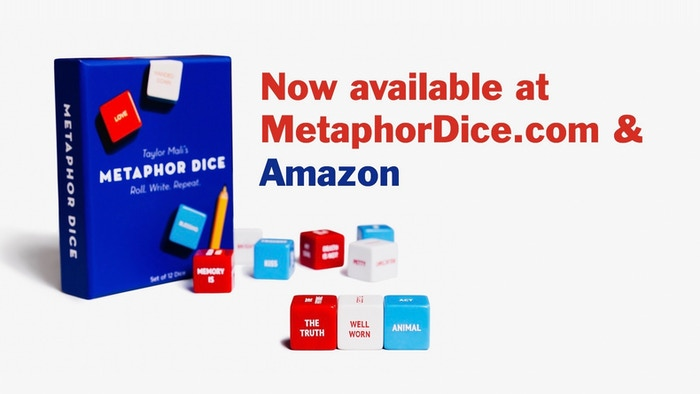 Original sets of Metaphor Dice available at select stores nationwide as well as online at Amazon or MetaphorDice.com.