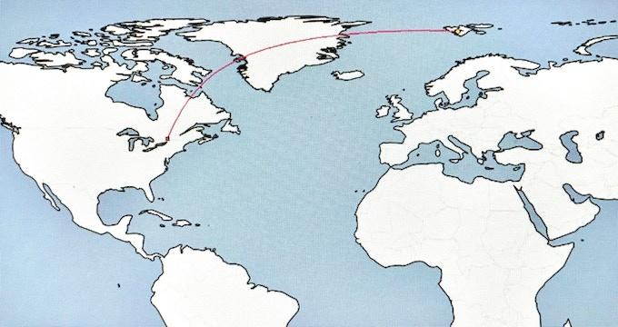 Ottawa - Svalbard Distance 5000 Kilometres