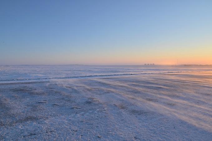 Artist: Sandra Hawkins. Title: Windswept Arctic Tundra, photograph, giclee print.