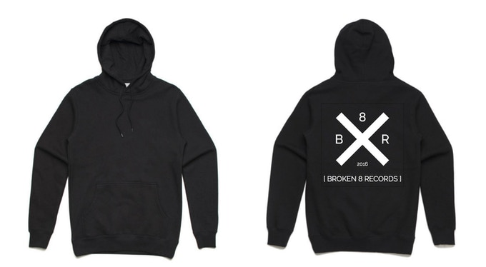 Our unisex hoodie with single design on back, available in sizes XXS to XXL.