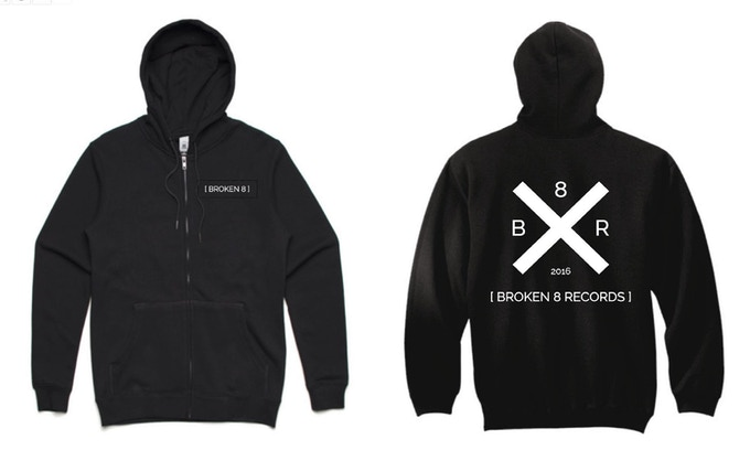 Our unisex zip hoodie with designs on both from and back. Available in sizes XXS to XXL
