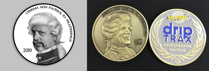 This year's concept on the left; last year's actual coin on the right.