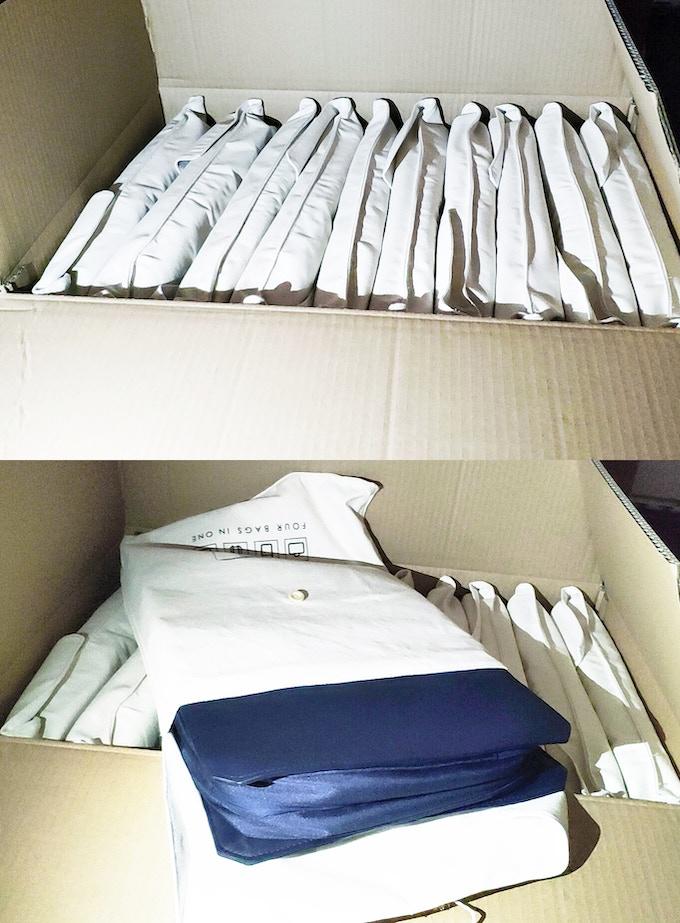 Trial production of FoldBag Backpack