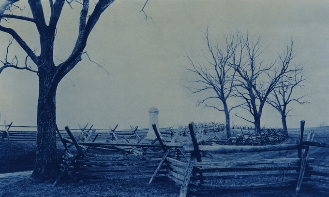 Antietam battlefield memorial, cyanotype (c) Binh Danh