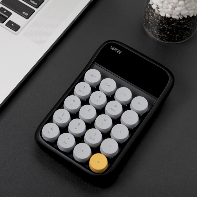 Digit Number Pad, Wireless, Retro, Mechanical, All In One by