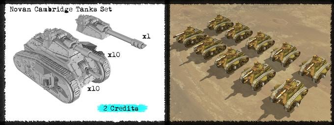 Novan Cambridge Tanks Set - Metal