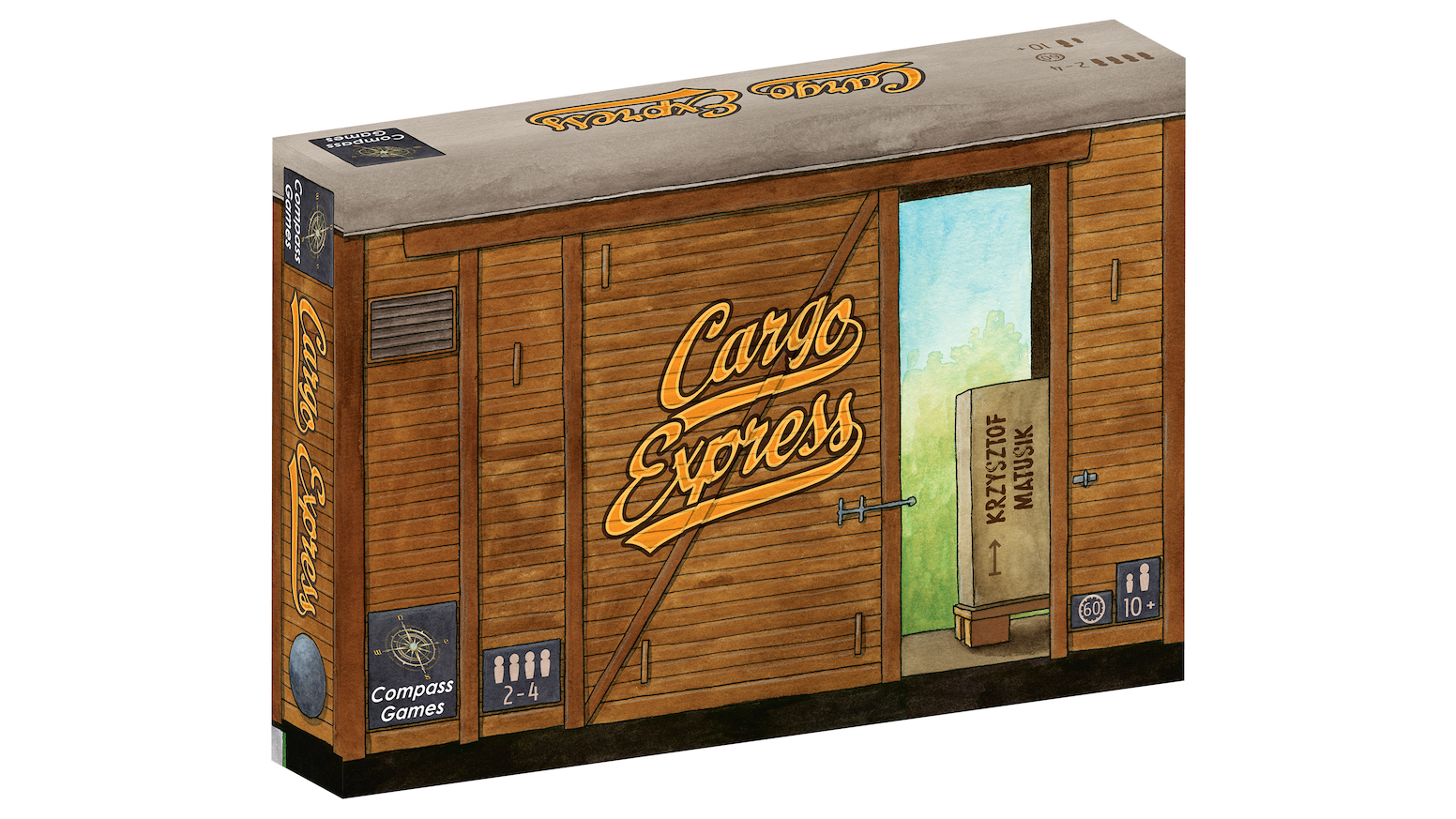 "Cargo Express - A ""pick up and deliver"" train game with an ever-changing game board"
