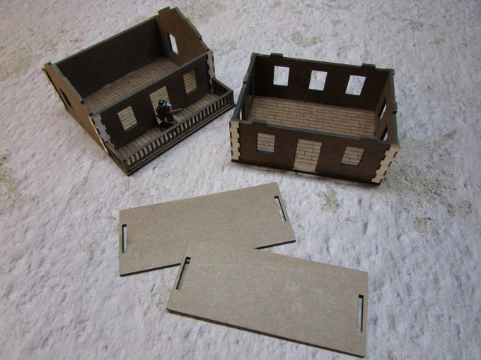 Unfinished model shown without windows.