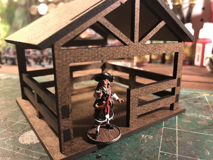 Unfinished building kit shown.