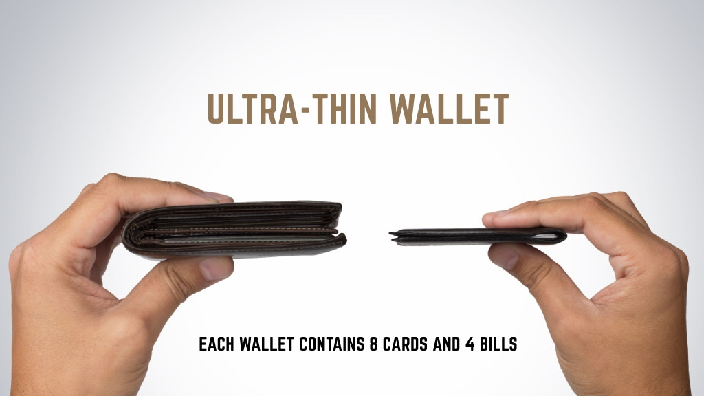 Stealth Wallet - Ultra-Thin, Ultra-Strong 8 Card Wallet