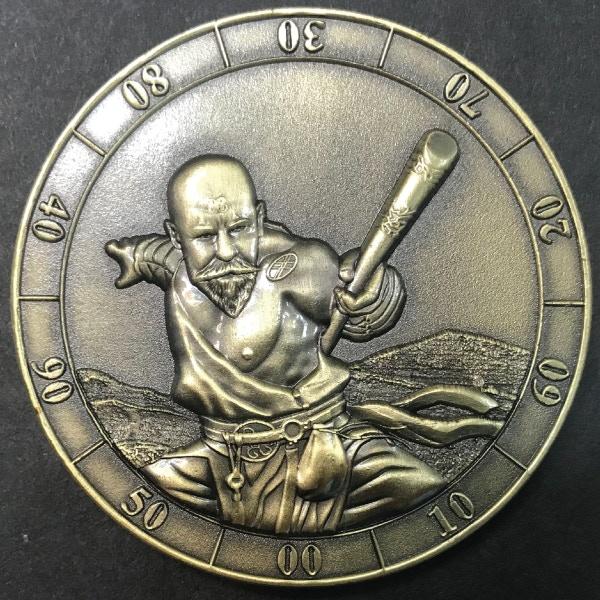 d10 ten digit Monk - antique gold plated